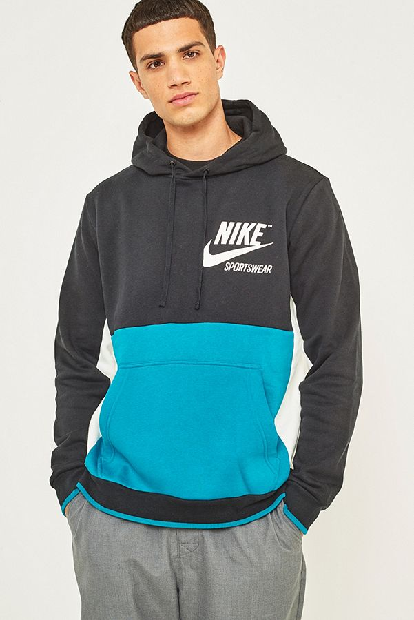 choose latest top brands classic shoes Nike Sportswear Black Pullover Archive Hoodie