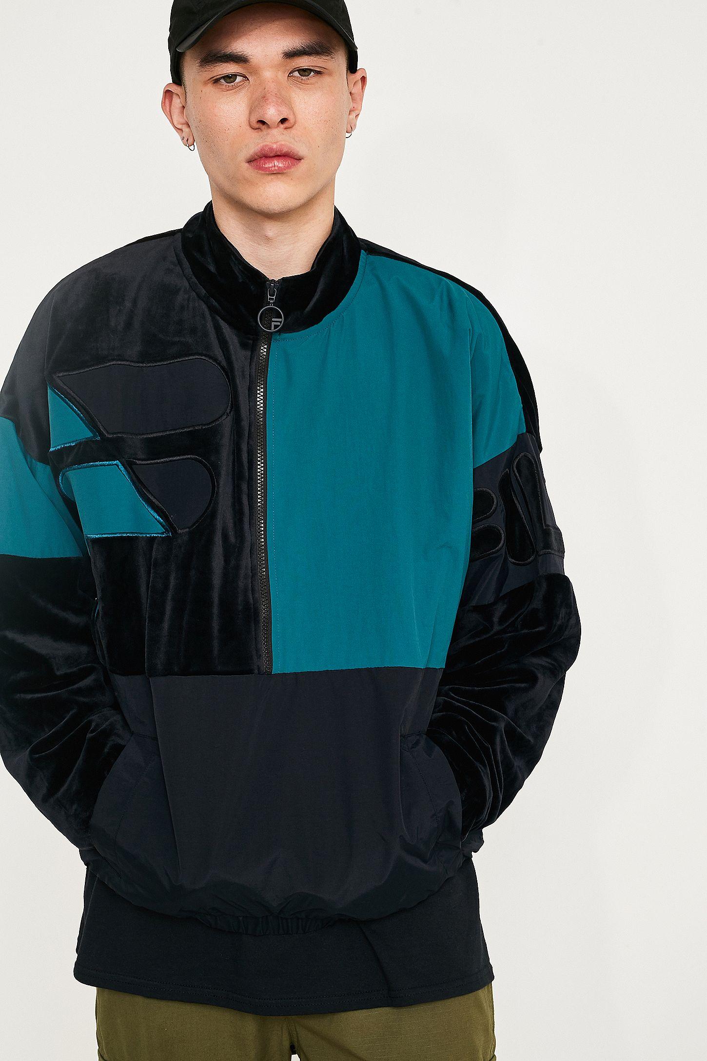 c137492ea9c0 FILA Fritz Black Half-Zip Track Top | Urban Outfitters UK