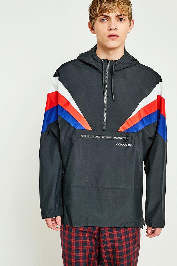 adidas Originals St. Petersburg Fontanka Half Zip Black Jacket