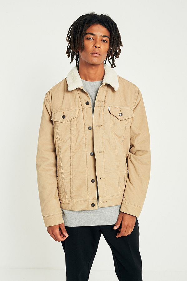 9dc603d0 Levi's Chino Corduroy Sherpa Trucker Jacket | Urban Outfitters UK