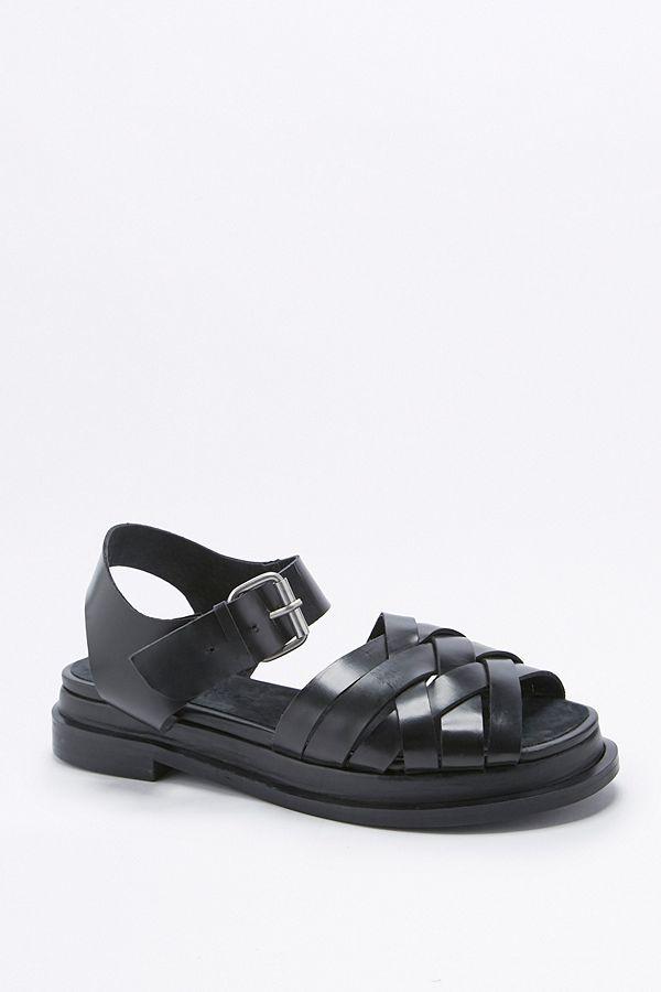 6127ed6000c Ella Black Woven Sandals