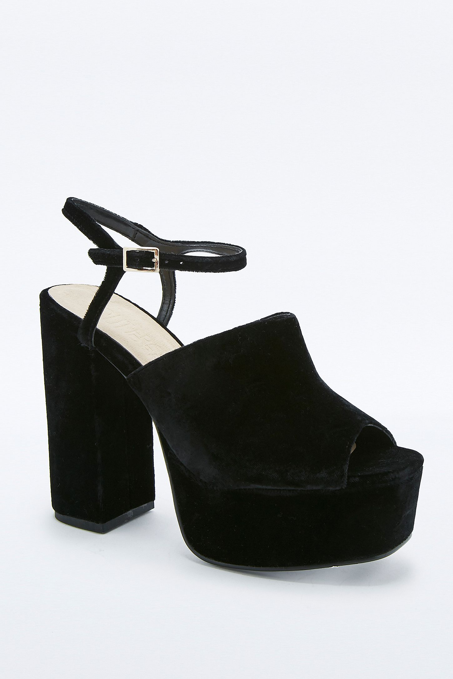 1e08d6747ad Phoebe Black Velvet Platform Shoes. Click on image to zoom. Hover to zoom.  Double Tap to Zoom