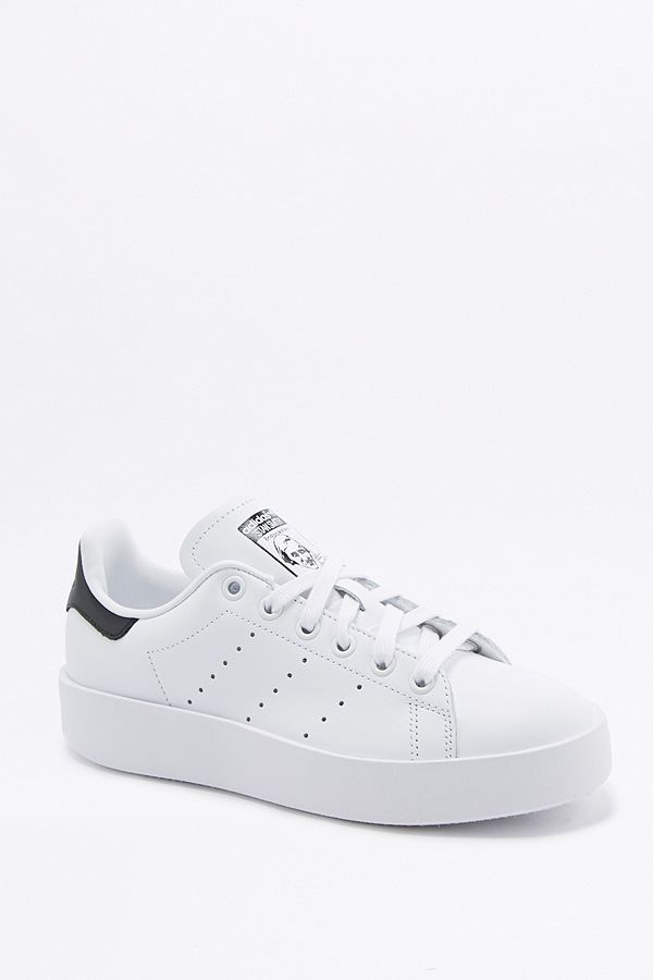 adidas Originals - Baskets plateformes Stan Smith blanches ...