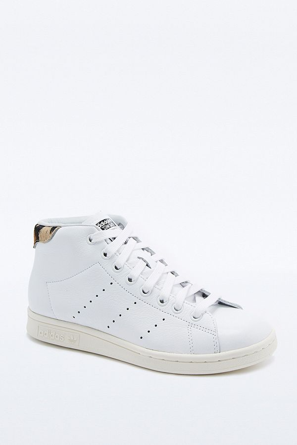 Adidas Originals Stan Smith Baskets Mi hautes Blanc Et