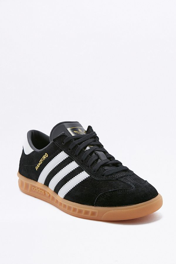 30de07b48b3c adidas Originals Hamburg Black Gum Sole Trainers