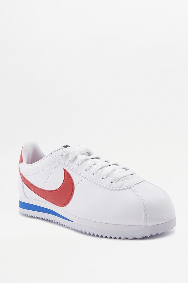 buy popular 2aa44 ce4ef Nike Cortez White Red And Blue Leather Trainers