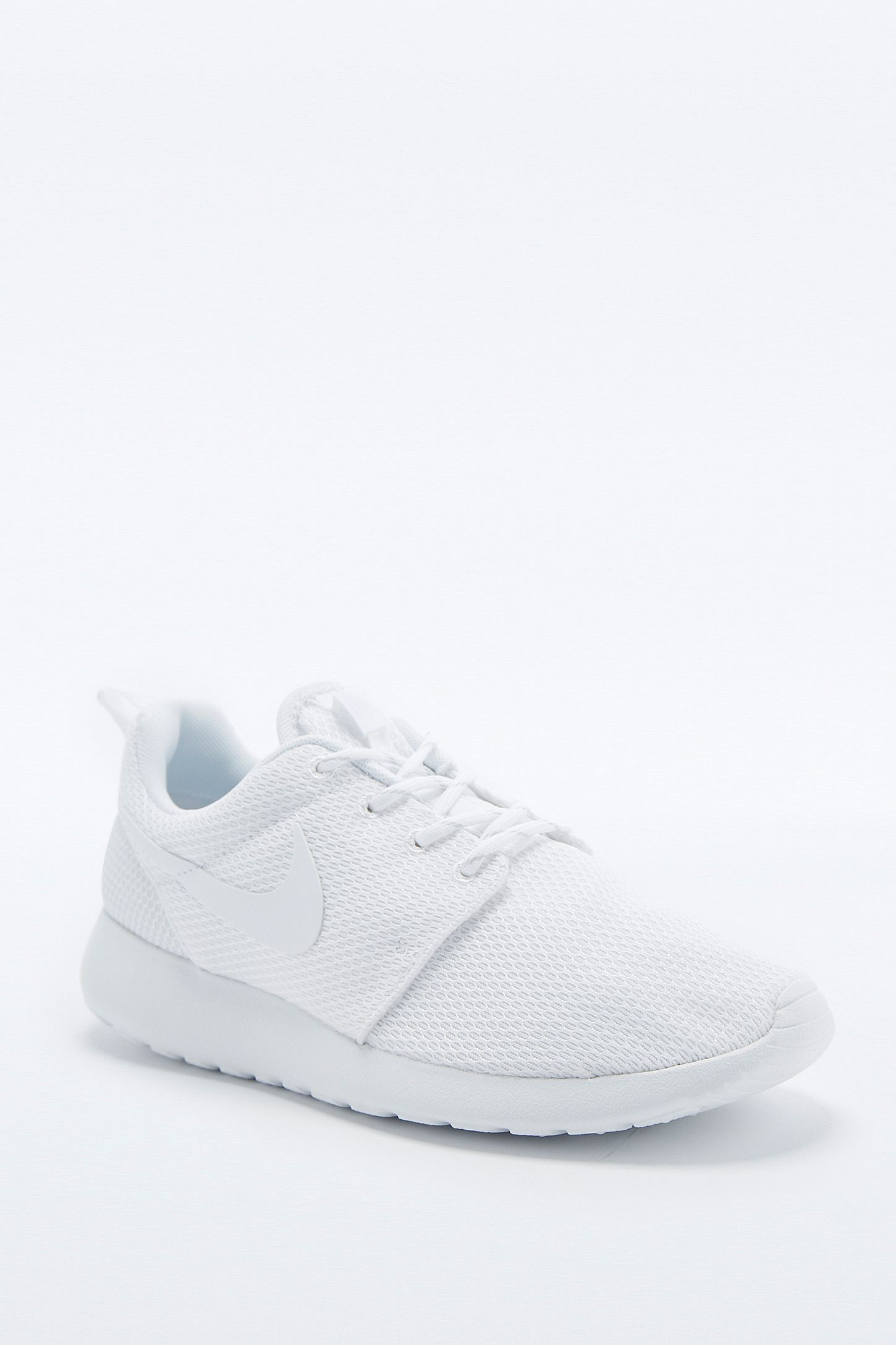 6c63d32cf4b79 Nike Roshe Run White and Silver Trainers. Click on image to zoom. Hover to  zoom. Double Tap to Zoom