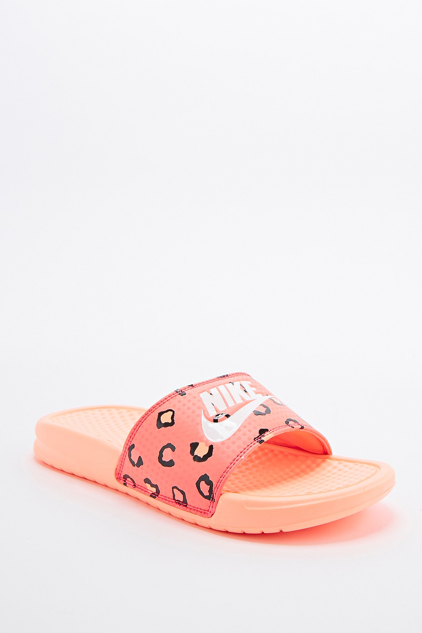 fc94d1cc7a23 Nike Benassi JD Printed Sliders in Orange