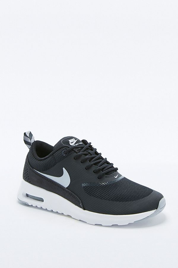 869bb206ed8e Nike Air Max Thea Silver and White Trainers