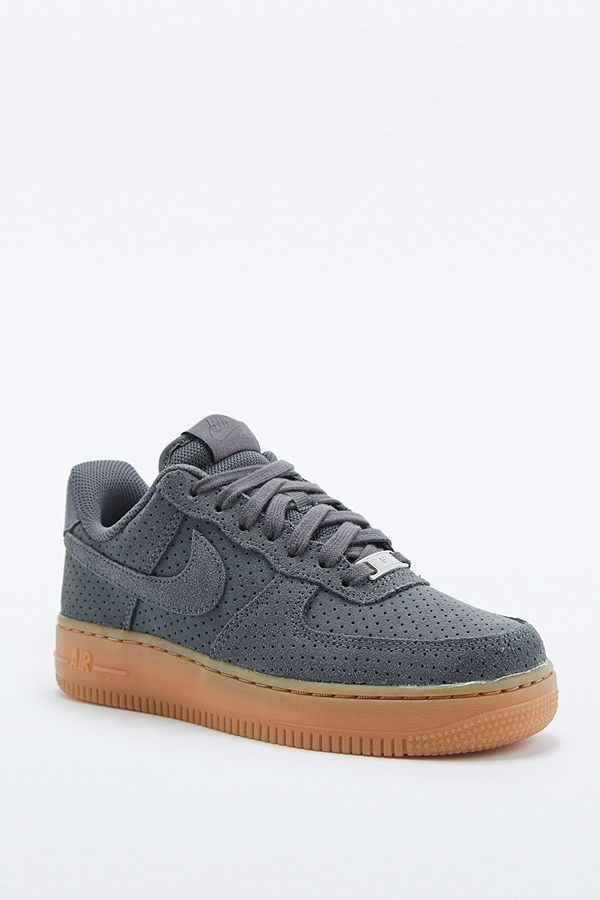 Nike Air Force 1 Grey Suede Trainers | Urban Outfitters UK