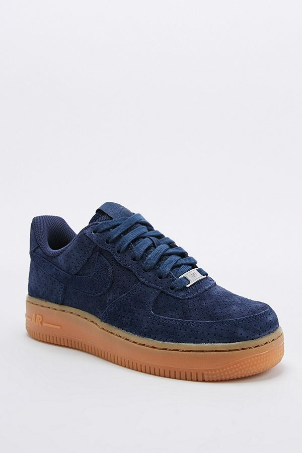 separation shoes first look uk availability Nike - Baskets montantes Air Force 1 en daim bleu marine ...