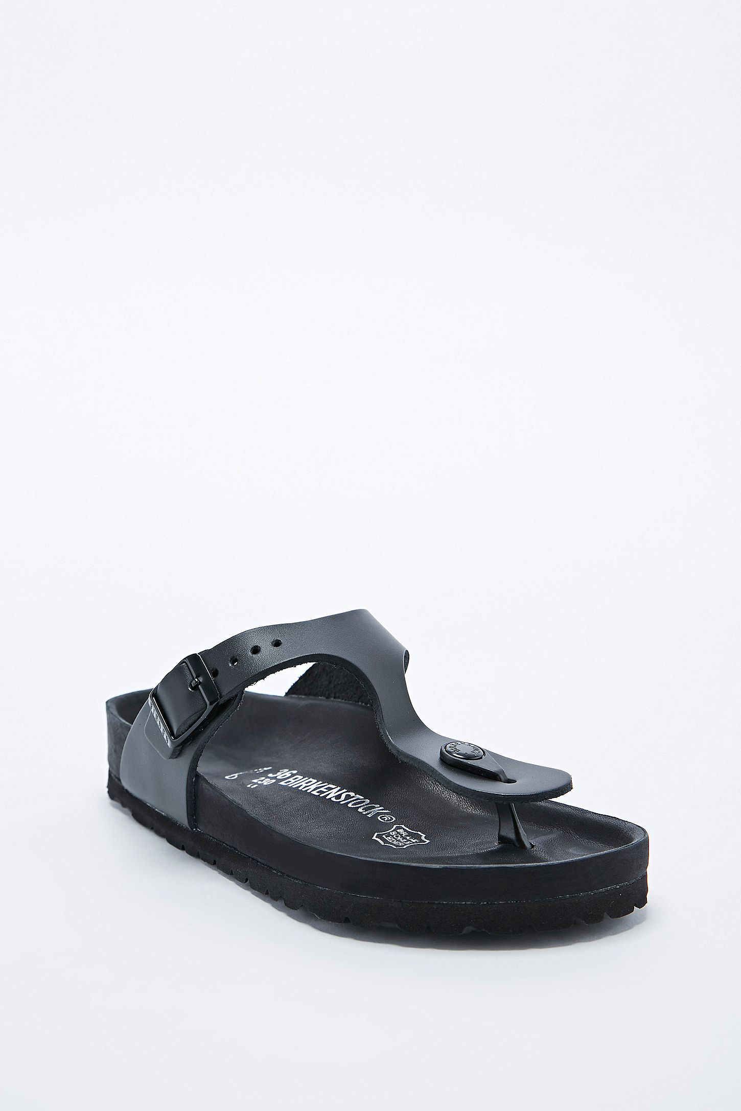 381072b8a776 Birkenstock Gizeh Exquisite Leather Sandals in Black
