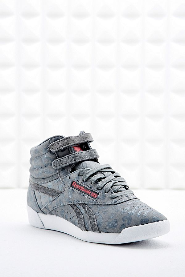 8c9026c9 Reebok Freestyle Eden High Top Suede Trainers in Leopard Print ...