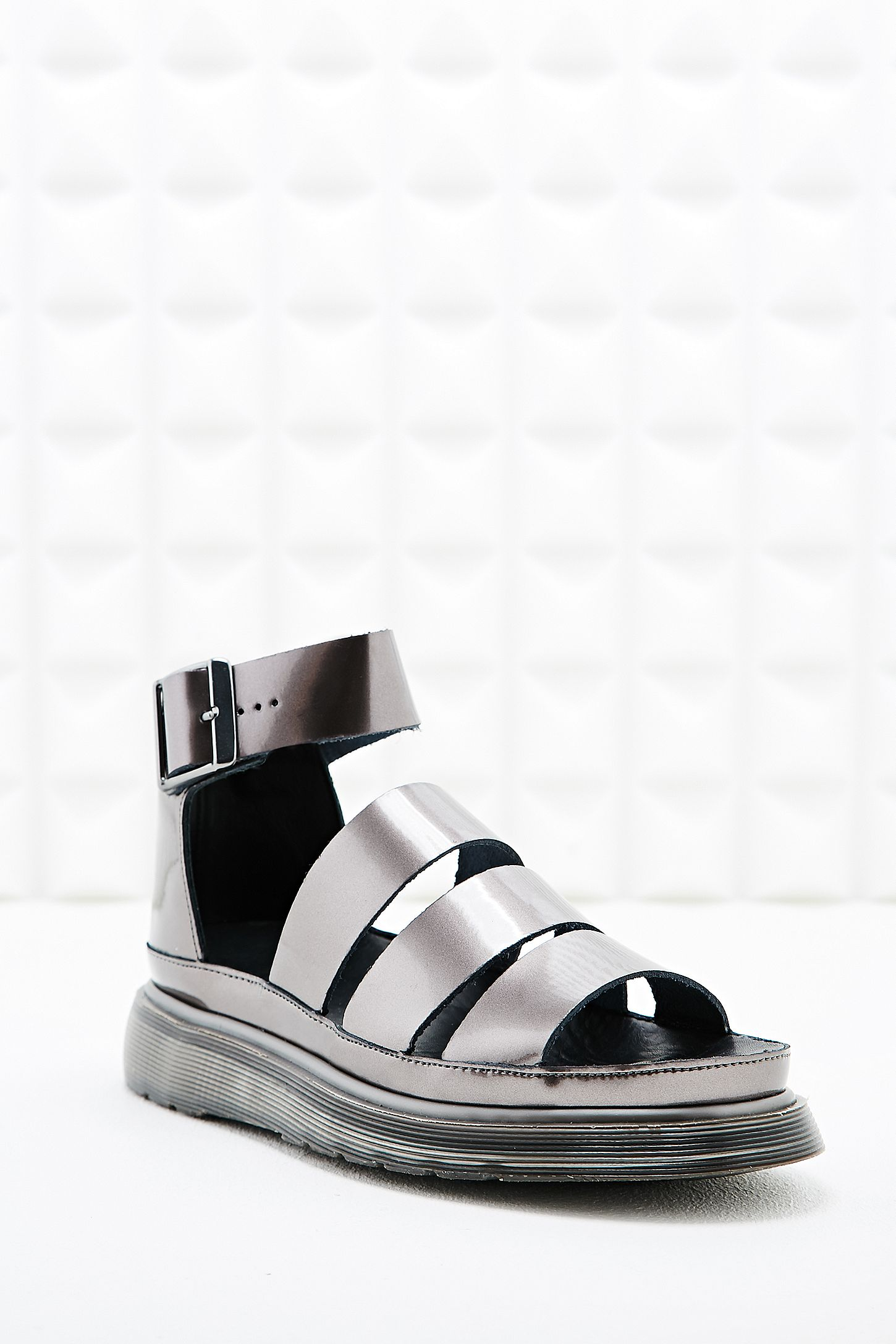 eddf4b58d5a8 Dr. Martens Clarissa Strap Sandals in Pewter. Click on image to zoom. Hover  to zoom. Double Tap to Zoom