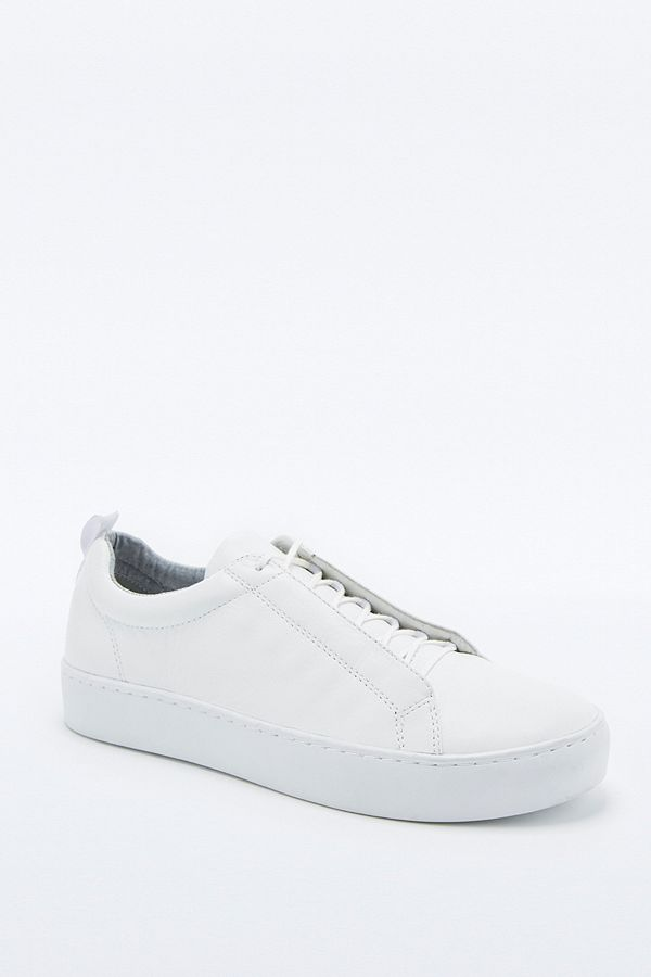 newest fefd6 f5d08 Vagabond Zoe White Covered Lace-Up Trainers | Urban ...