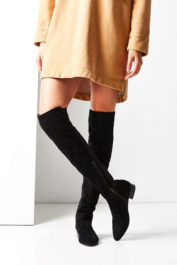 """schöne Schuhe tolle Auswahl gehobene Qualität Vagabond – Overknee-Stiefel """"Gigi"""" aus Wildleder in Schwarz"""