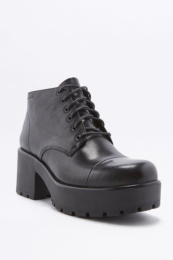 5c8d3c5909 Vagabond Dioon Lace-Up Chunky Black Leather Ankle Boots