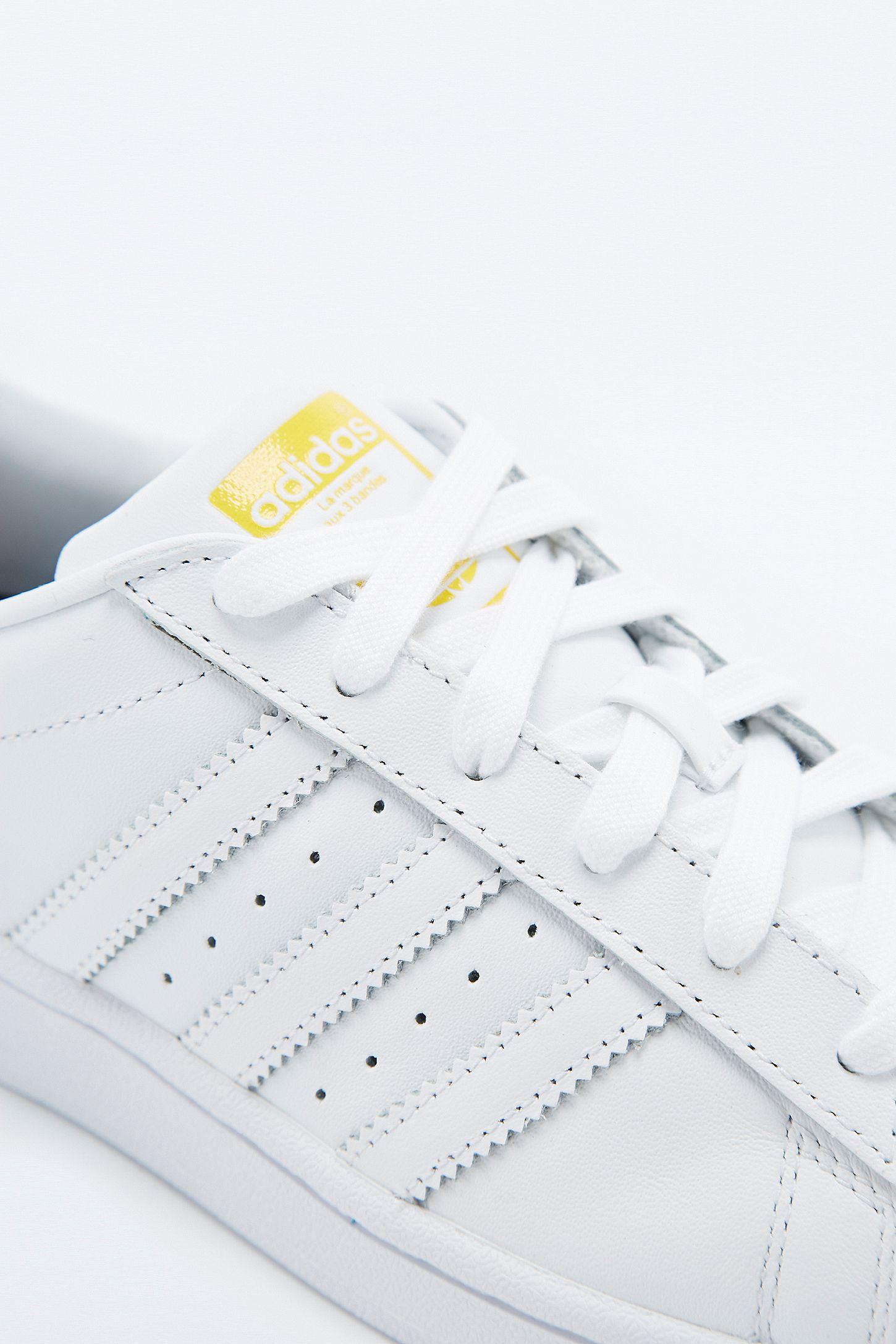 3dfd174f6990 Slide View  5  adidas Originals Pharrell Supershell Superstar White Trainers