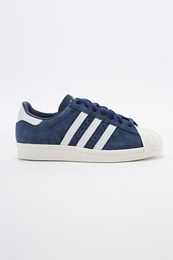 timeless design 10b27 eb760 adidas Superstar 80s Suede Trainers in Navy   Urban ...