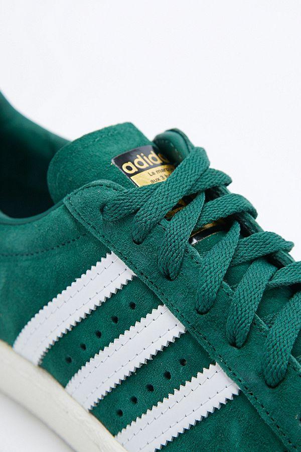adidas Originals Baskets Superstar 80s Delux en daim vert