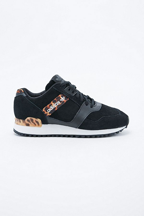 1276a2293 Slide View  2  adidas ZX 700 Trainers in Leopard Print and Black