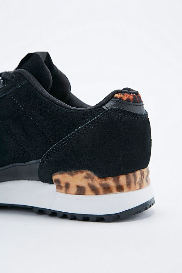 fd82b8153 Slide View  4  adidas ZX 700 Trainers in Leopard Print and Black