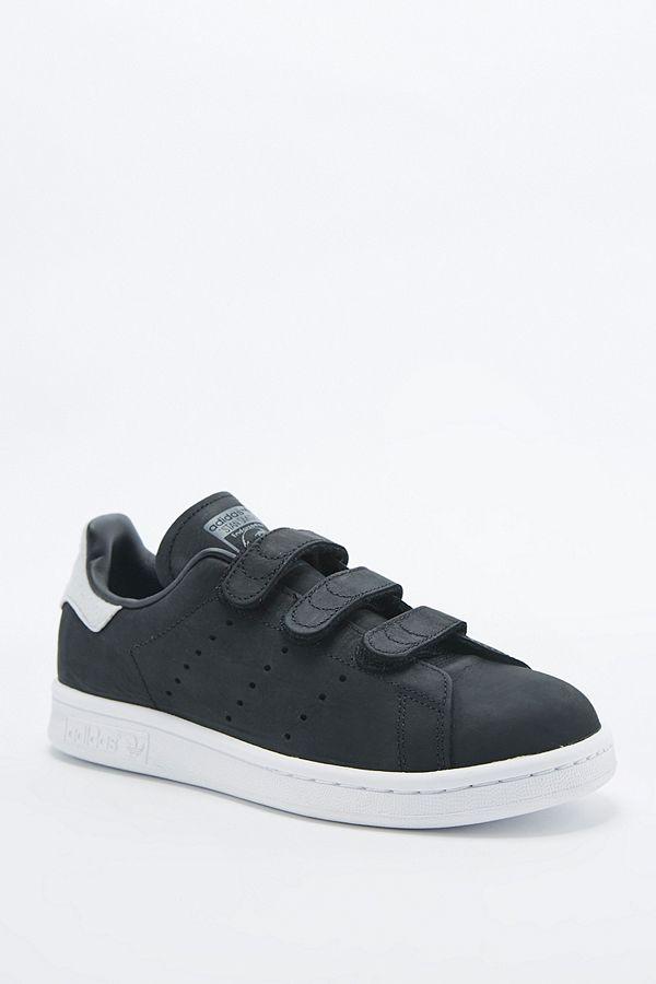 adidas Originals - Baskets Stan Smith à scratch noires
