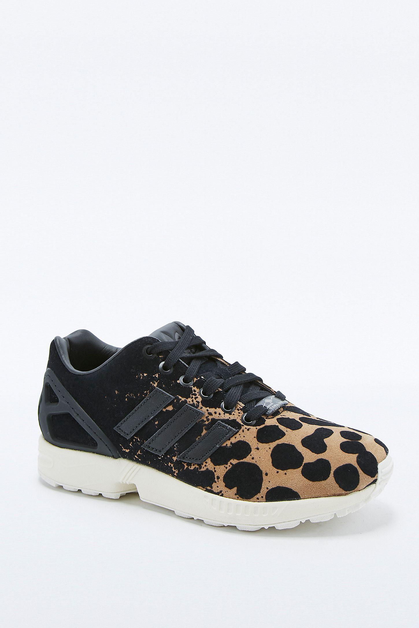 adidas zx flux leopard noir