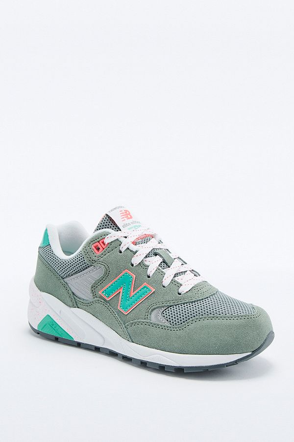 new product 67413 cd62c New Balance 580 Khaki Trainers | Urban Outfitters UK