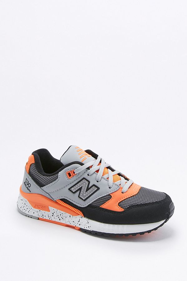 29abf1615c651 New Balance 530 '90s Grey and Orange Trainers   Urban Outfitters UK