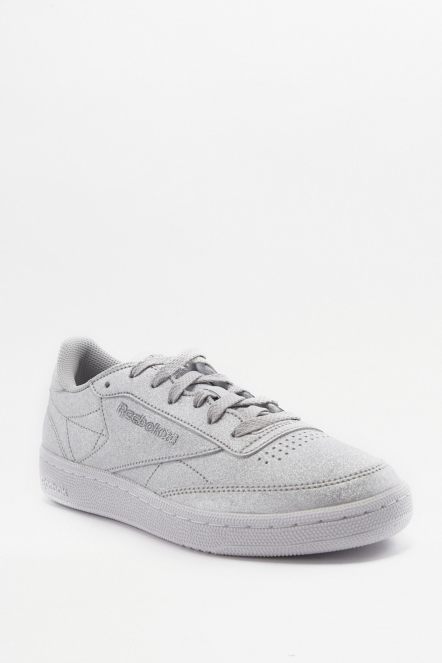 4730d75b12963 Reebok Club C 85 Silver Metallic Trainers. Click on image to zoom. Hover to  zoom. Double Tap to Zoom