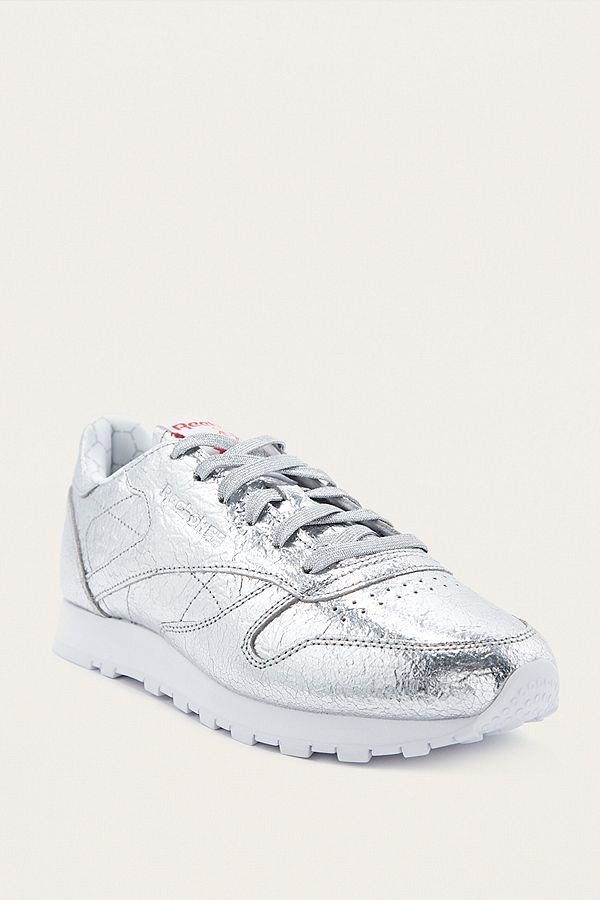 Hd Leather Reebok Silver Trainers Classic y0OPnwmvN8