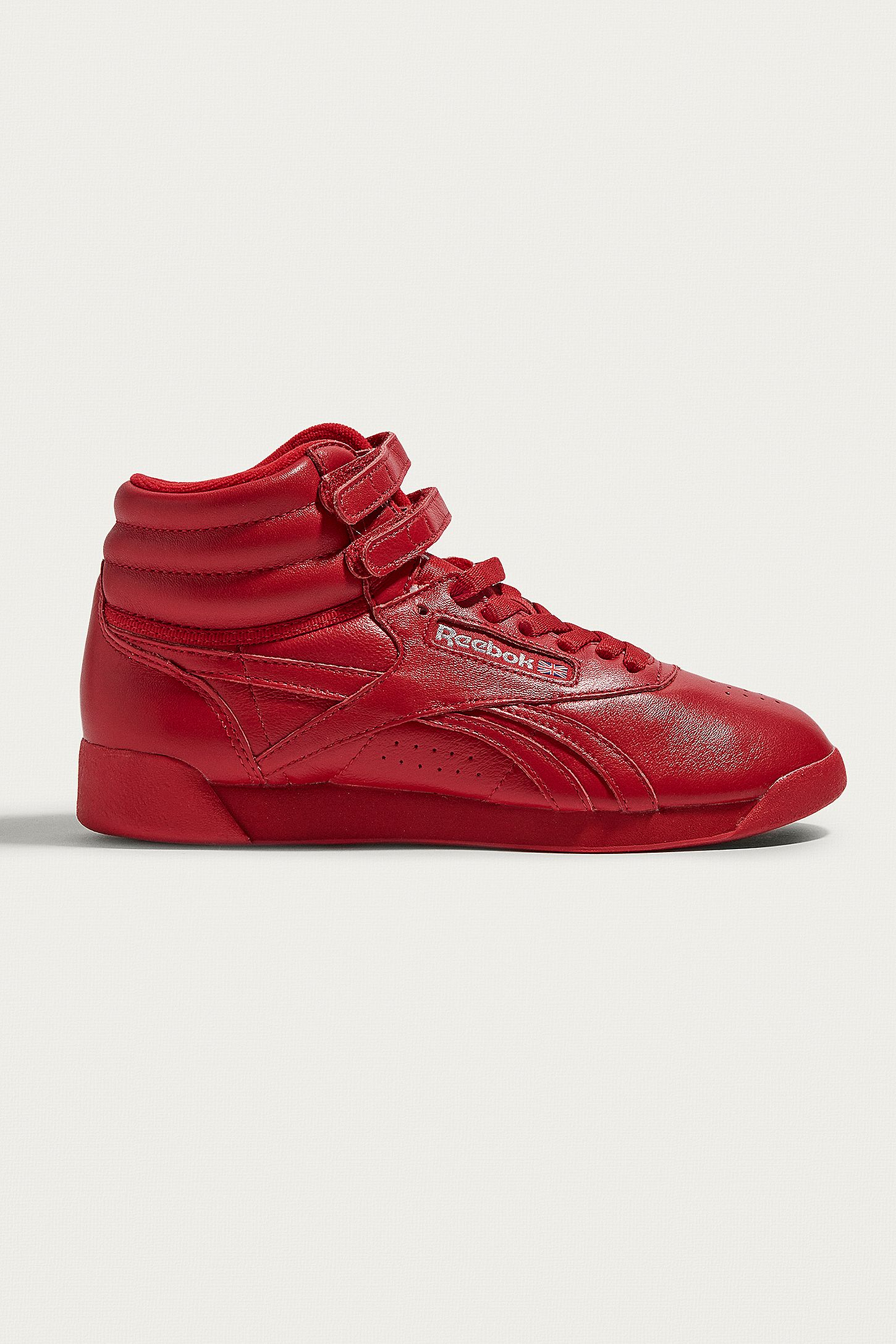 7275ee3c17d Reebok Freestyle Red High Top Trainers