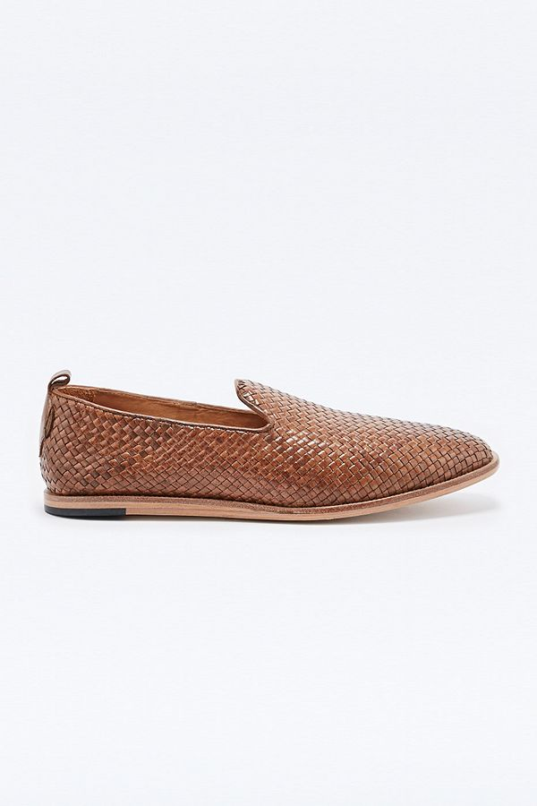 a7e6cf17c3c H by Hudson Ipanema Woven Loafers in Tan