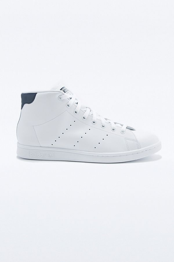 brand new e605b 18405 adidas Originals Stan Smith Mid White and Navy Trainers ...