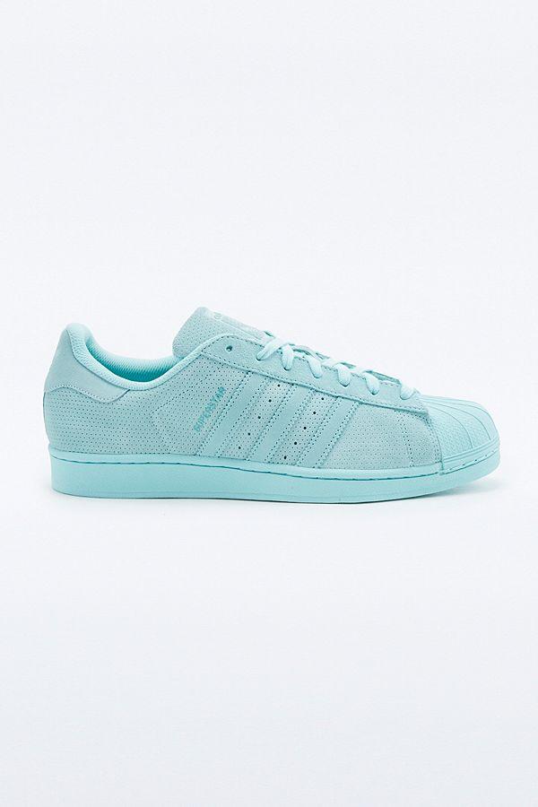 adidas Originals Superstar RT Monotone Aqua Suede Trainers ...
