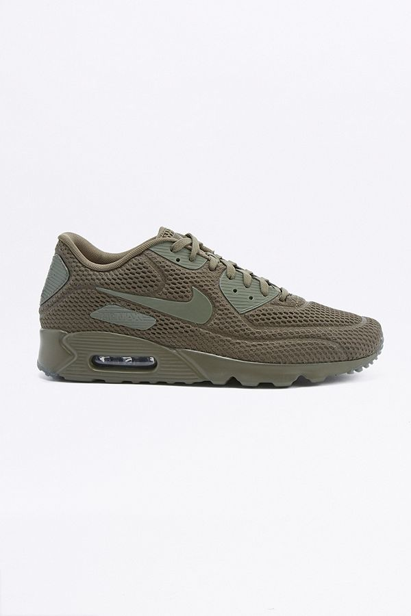 Nike Air Max 90 Ultra Breathe Khaki Trainers | Urban