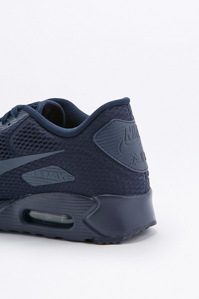 Nike Air Max 90 Ultra Breathe Navy Trainers | Urban
