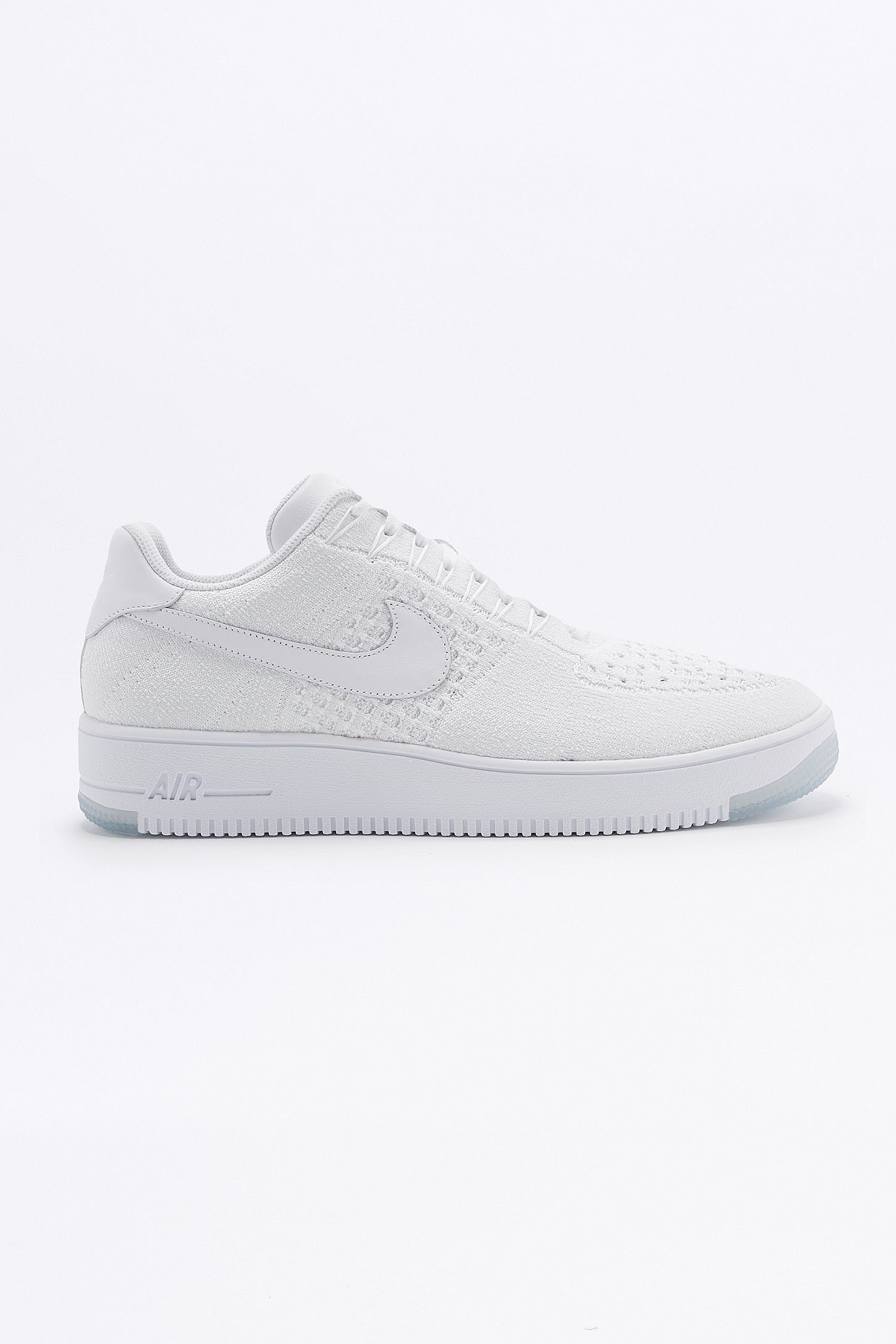 new product e6783 42e9c Nike Air Force 1 Flyknit Low White Trainers. Click on image to zoom. Hover  to zoom. Double Tap to Zoom