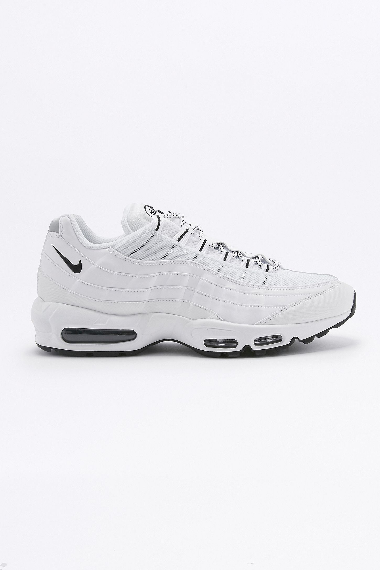 sneakers for cheap f543e 26cf7 Nike Air Max 95 Essential White and Black Trainers. Click on image to zoom.  Hover to zoom. Double Tap to Zoom
