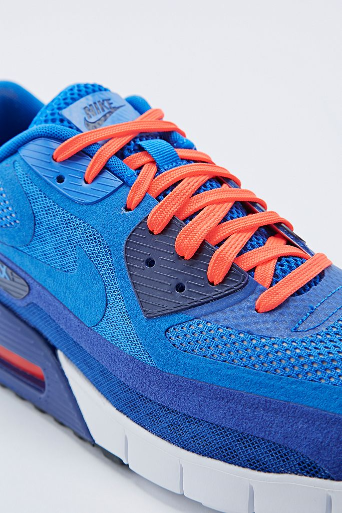 Nike Air Max 90 Breathe Trainers in Blue | Urban Outfitters UK