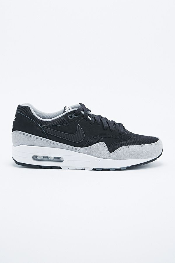 Nike Air Max 1 Suede Trainers in Black | Urban Outfitters UK