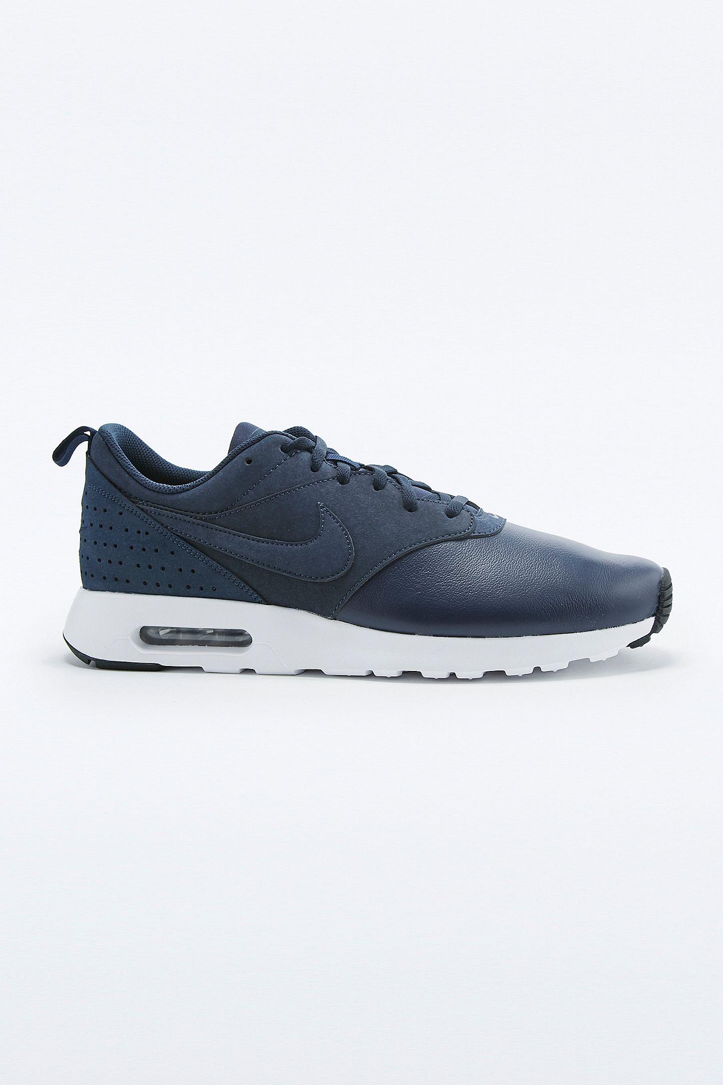 Nike Air Max Tavas Blue Leather Trainers