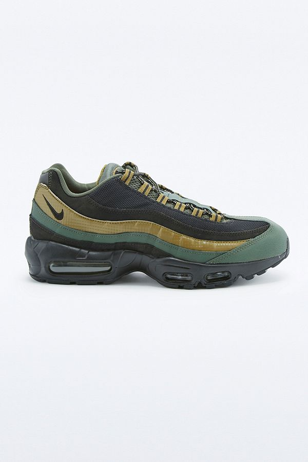 6cbfbca9f0 Nike Air Max 95 Essential Khaki and Black Trainers | Urban Outfitters UK
