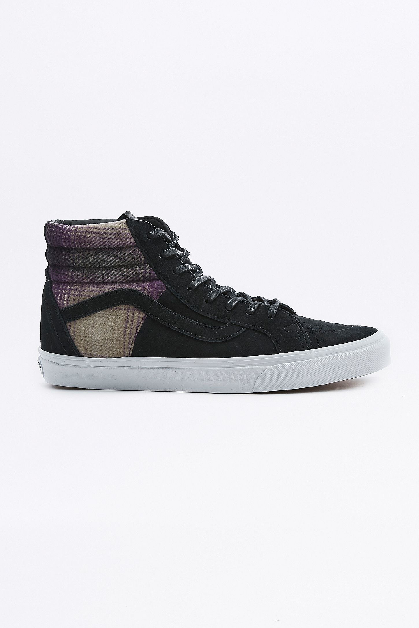 b66a62c552257a Vans Sk8-Hi 46 DX Black Mountain Plaid Trainers. Click on image to zoom.  Hover to zoom. Double Tap to Zoom