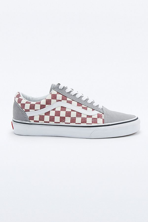 Vans Old Skool Frost Grey Checker Trainers | Urban Outfitters UK