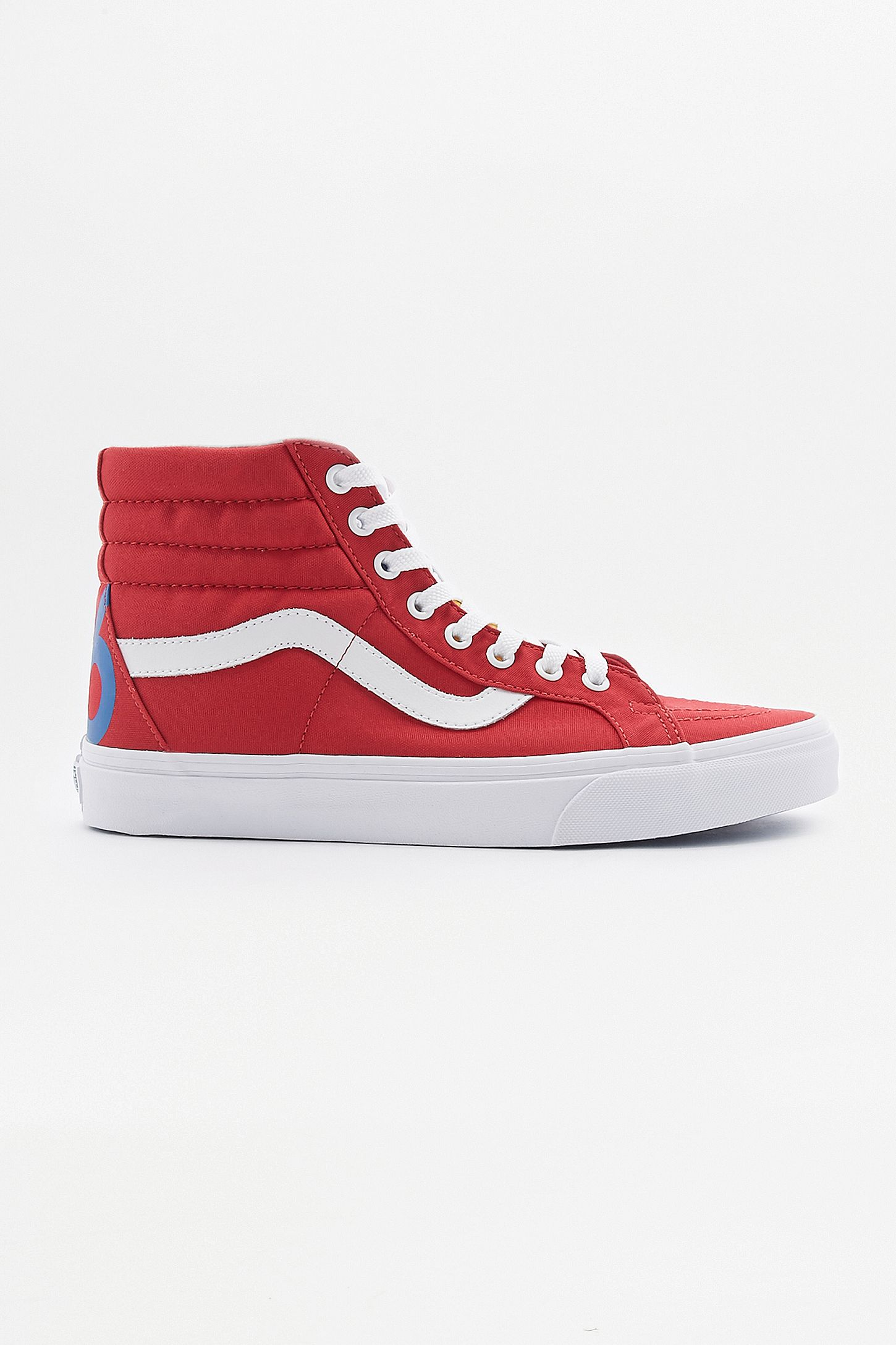 32b629bf8e75 Vans Sk8 Hi Reissue 1966 Red Trainers