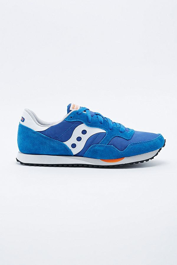 best service f96e0 857e4 Saucony Shadow Original Trainers in Blue and White | Urban ...