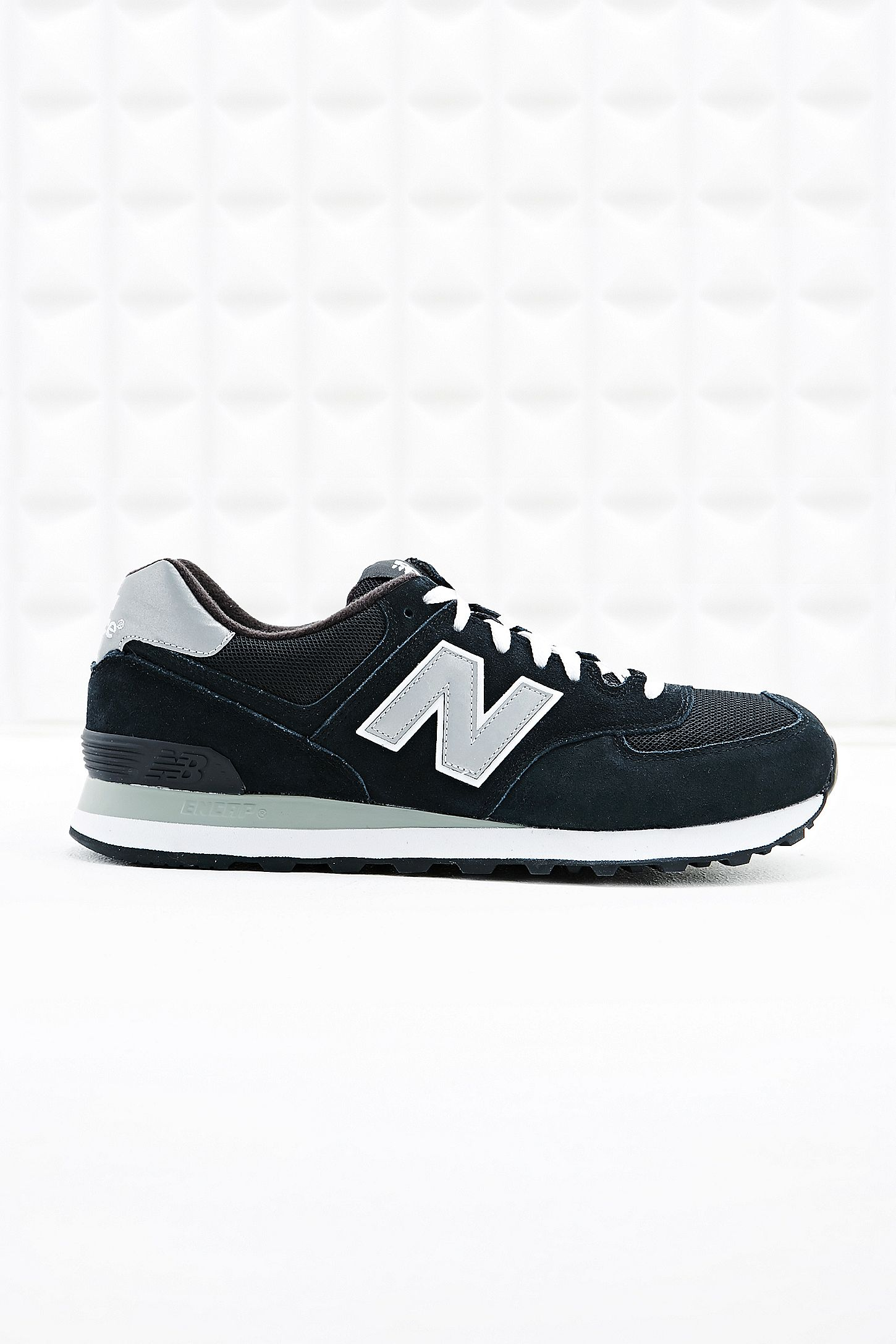 promo code d59d5 4e31f New Balance 574 Runner Suede Trainers in Black | Urban ...