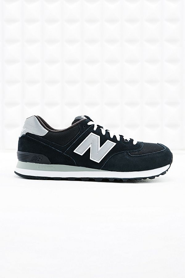 promo code 1e0fa 6ae44 New Balance 574 Runner Suede Trainers in Black | Urban ...